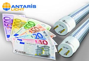 Mit ANTARIS LICHT ist die Umrüstung auf LED-Licht ohne Kapitalaufwand möglich.